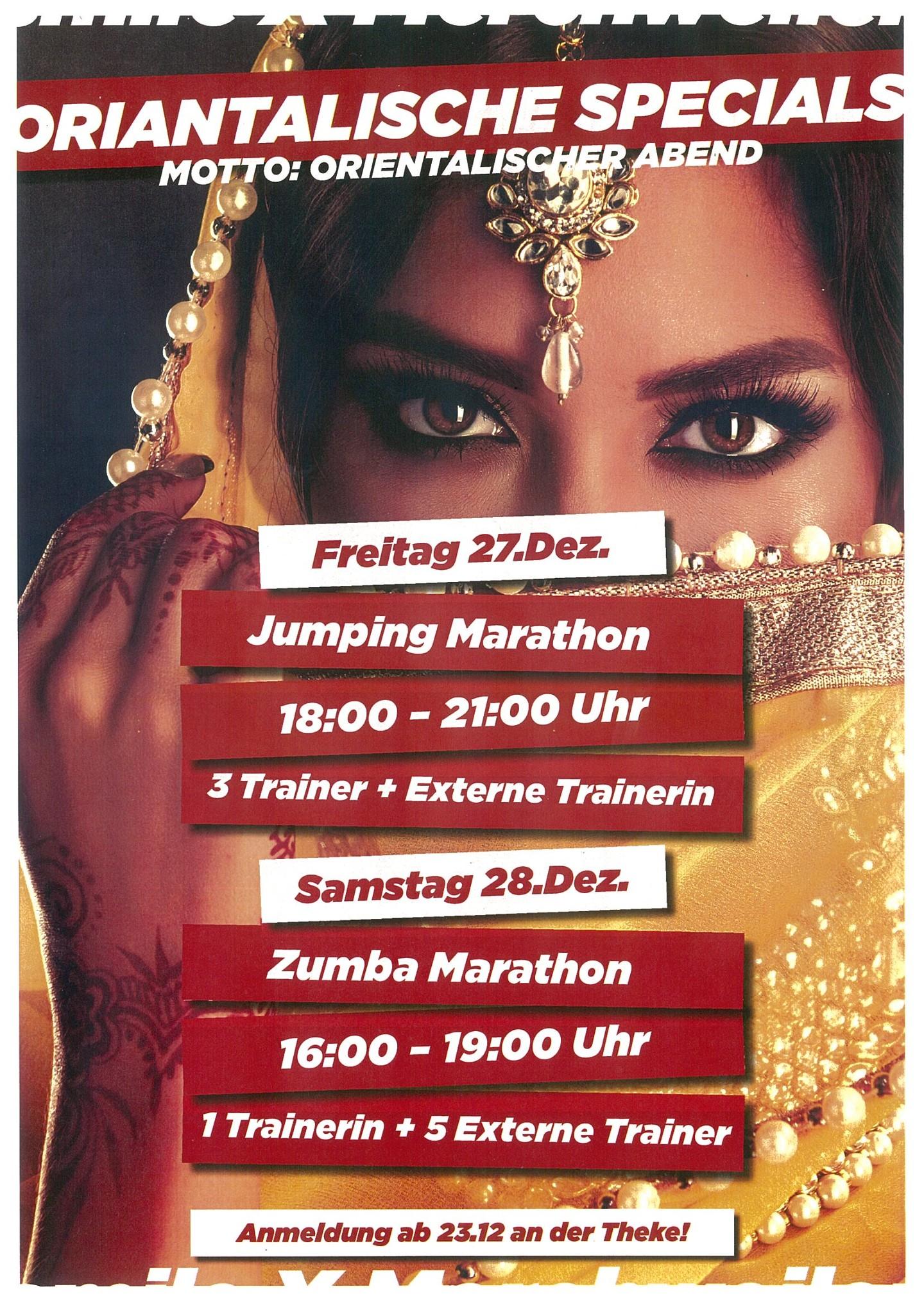 Jumping + Zumba Marathon im Dezember